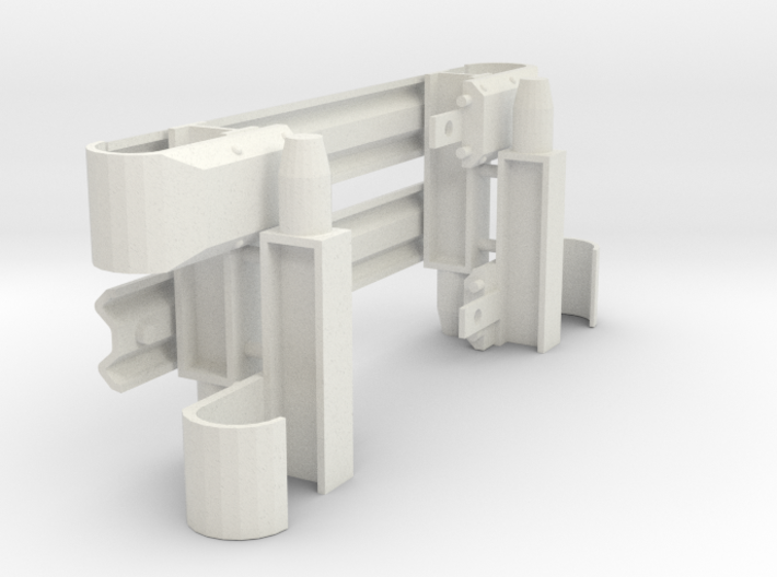 Armco Stubby Nose End on I-Beam Posts, 2 pair 3d printed