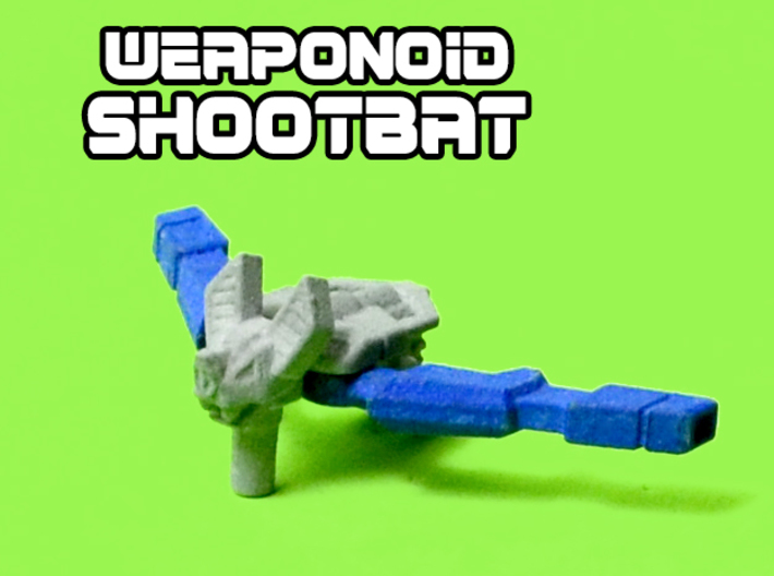 ShootBat Transforming Weaponoid Kit (5mm) 3d printed White strong and flexible print, hand painted.