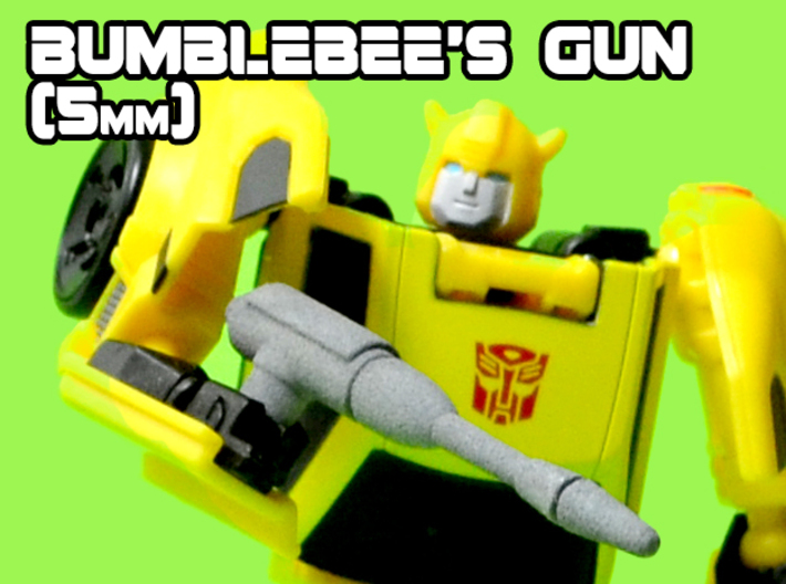 Bumblebee's Gun (MTMTE), 5mm 3d printed White strong and flexible print, hand painted.