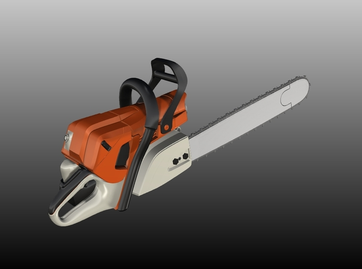 Chain Saw Type 3 - 1/10 3d printed