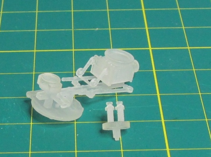 00n3 Clogher Tram Engine Detail Parts 3d printed