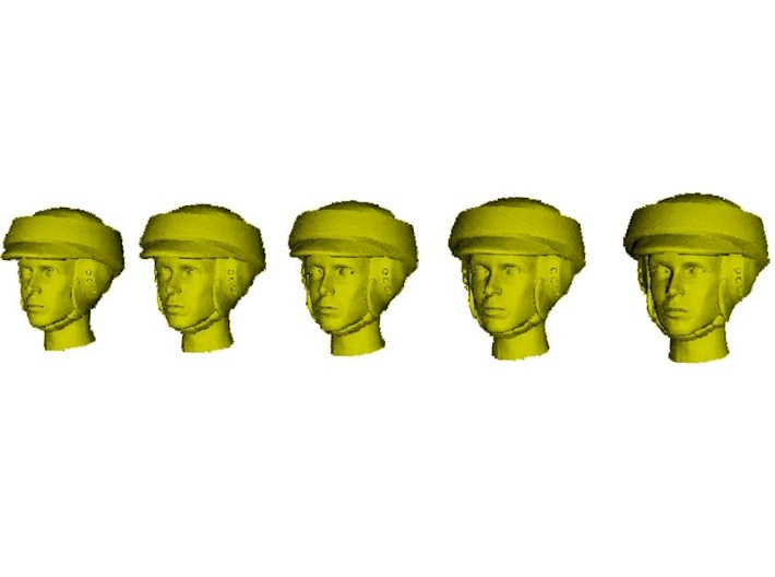 1/35 scale Star Wars rebel trooper heads x 5 3d printed