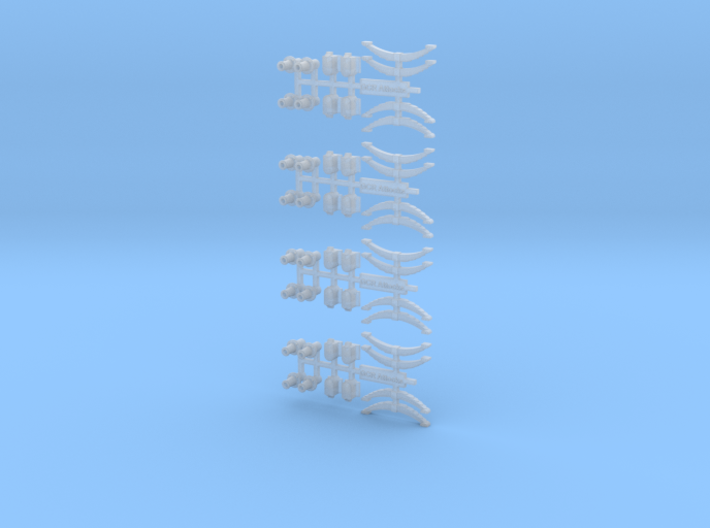 GCR Attocks Axleboxes + Plain Buffer 3d printed