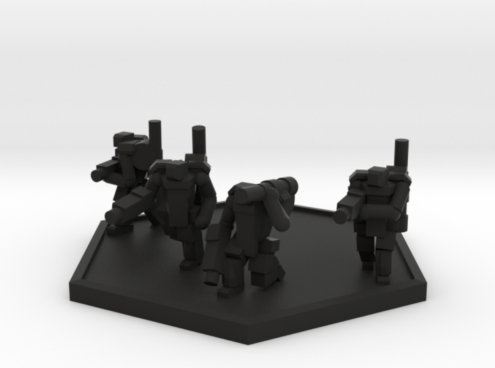 Colour Imperial Trooper PA Squad (Hex) 3d printed