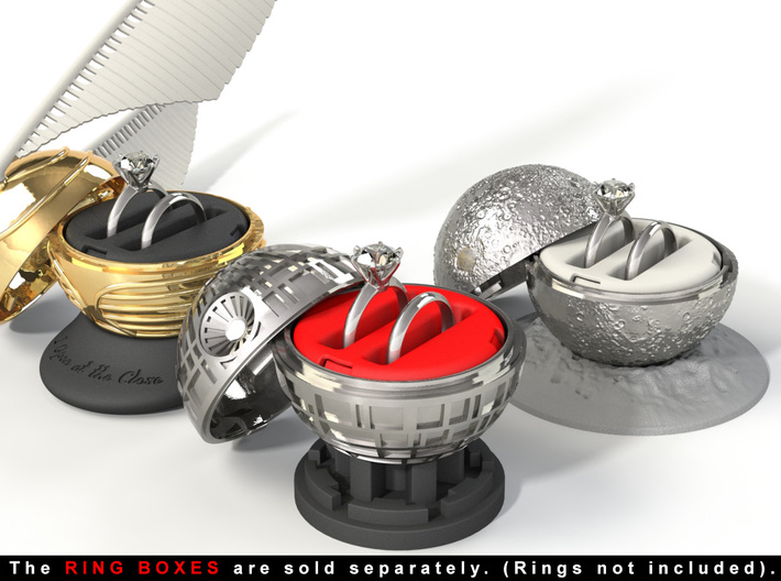 """DOUBLE RING HOLDER - To (*) """"ALL NEW RING BOXES"""" 3d printed The rings are not included."""