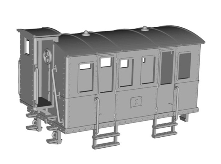HOe-wagon02 - Crate of passenger wagon 3d printed