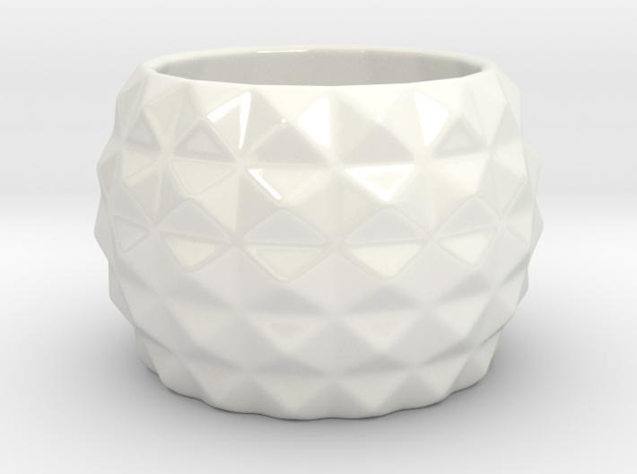 Modern round planter 3d printed