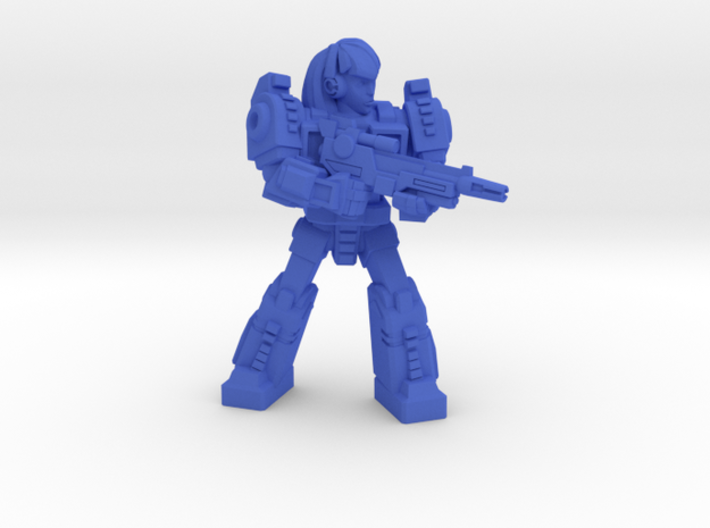 Diaclone Combat Squad, 5 35mm Minis 3d printed Render, Special Weapons