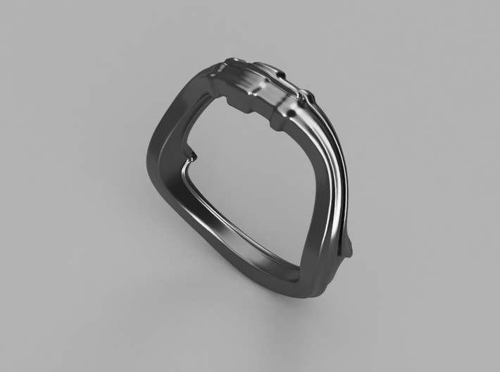 Wave of Time  Ring 3d printed