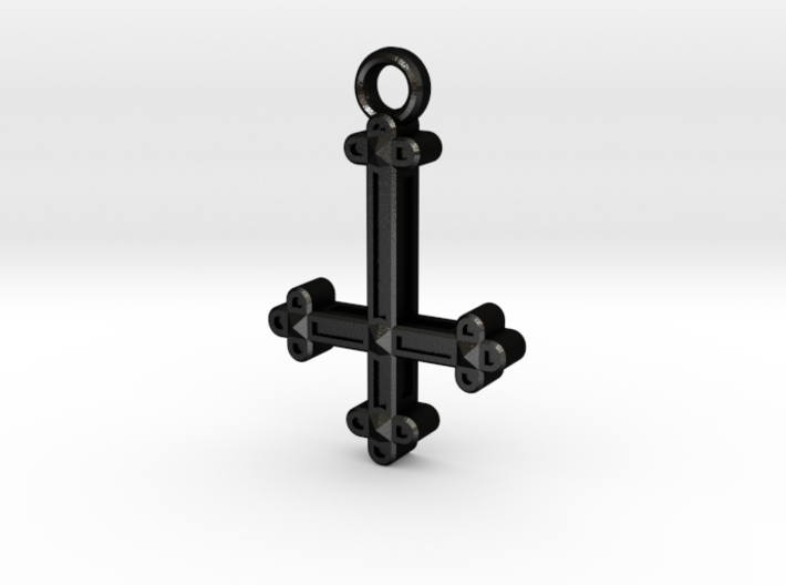 Inverted Cross Charm 3d printed