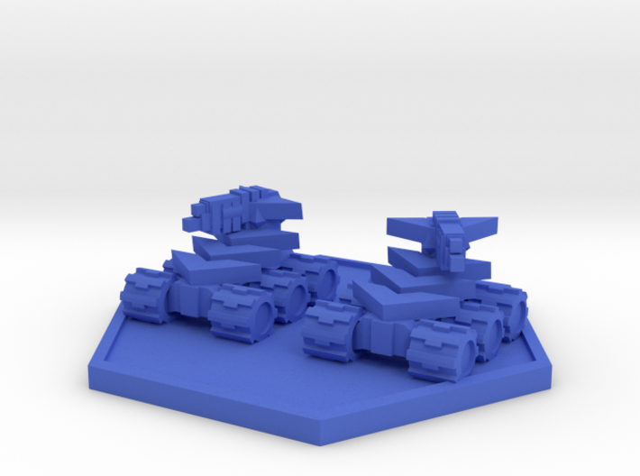 Colour Rim Bastion Drone Mini Tank Team 3d printed