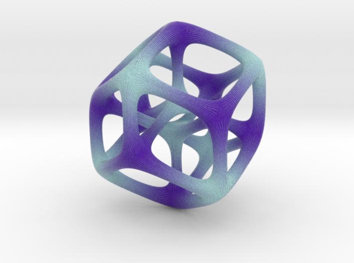 Halftone Hypercube 3d printed