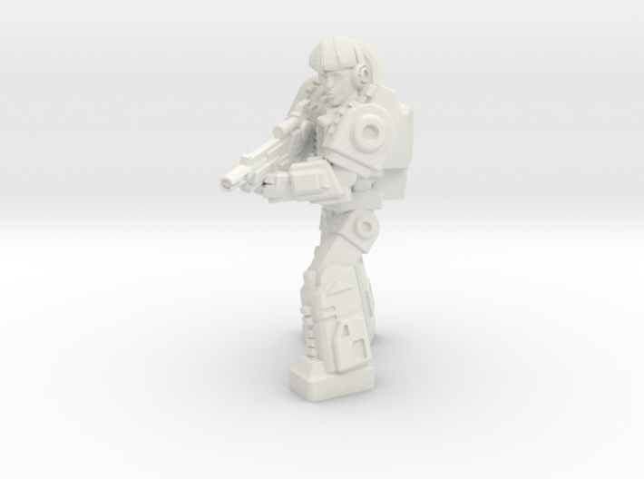 Diaclone Special Weapons Trooper, 35mm mini 3d printed