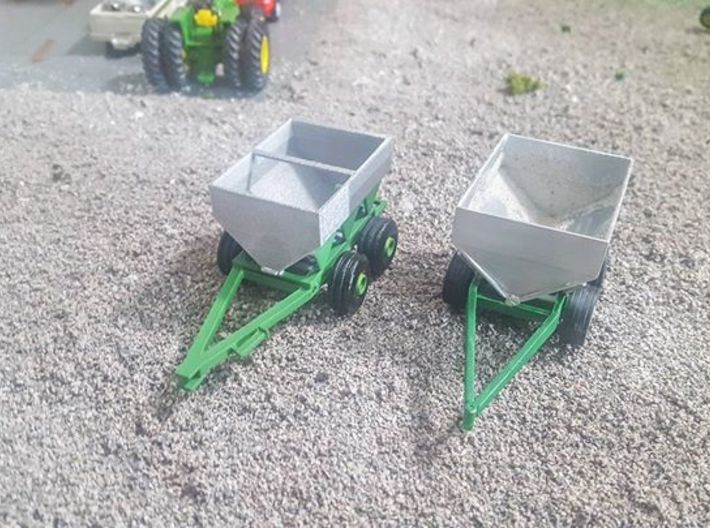 1/64 PTO fertilizer spreader rounded end caps 3d printed