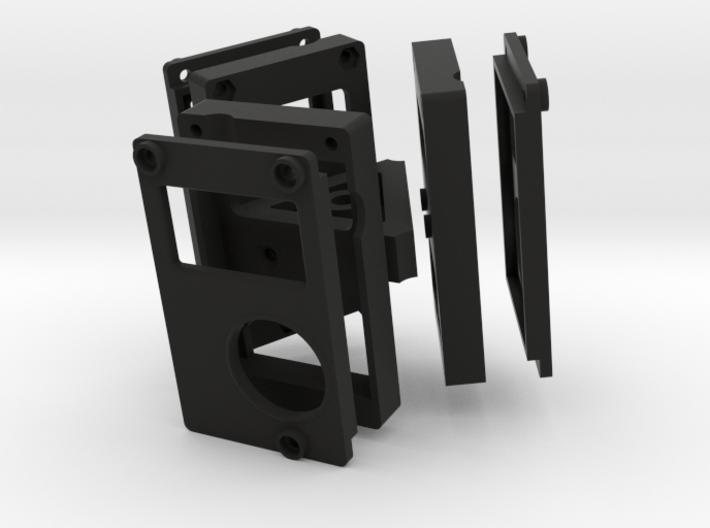 3-camera Rig 3d printed