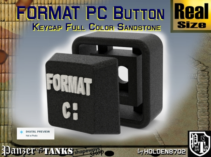 Black and White Color Key of Format PC 3d printed