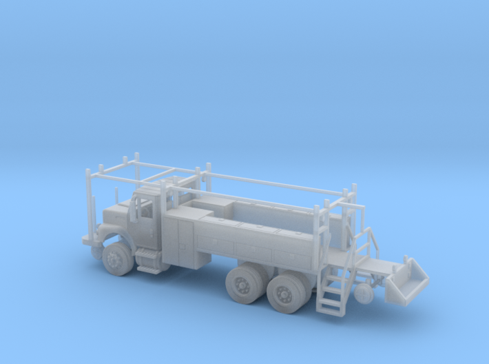 MOW Rail Truck 2 Door Cab Full Cabinets 1-87 HO Sc 3d printed