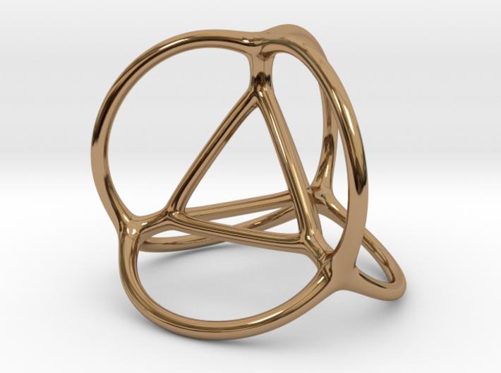 Soap Bubble Tetrahedron 3d printed