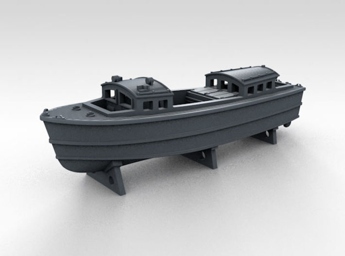 1/700 WW2 RN Boat Set 4 with Mounts 3d printed 35ft Admirals Launch