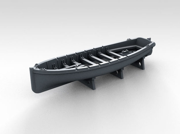 1/700 WW2 RN Boat Set 4 with Mounts 3d printed 36ft Motor Pinnace