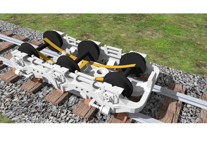 Atlas SD50/SD60/SD60M Dummy Chassis Kit - N Scale 3d printed Power Pickup Added To Truck