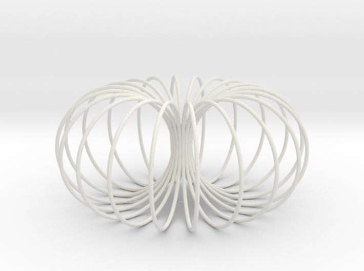 Torus sculpture pendant 150mm 3d printed