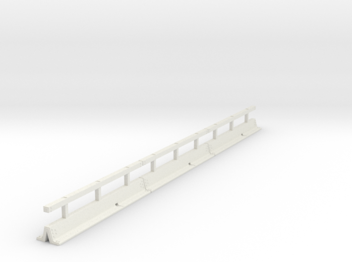 OO scale Varioguard Metal Motorway Barrier 12m len 3d printed