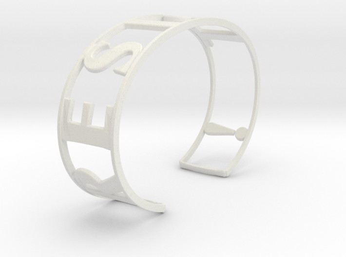 RESIST Emboss Text Cuff-L-thick 3d printed