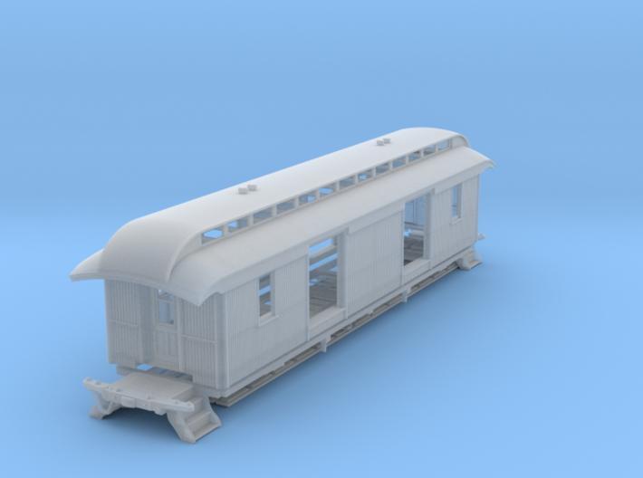 """46' Wood Baggage Car U & D RR S Scale 1/64 3/16"""" 3d printed"""