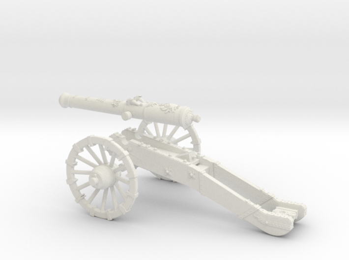 AF French gun 16 Pounder 7 Years War 28mm 3d printed