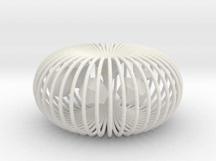 Torus platonic solids 3d printed
