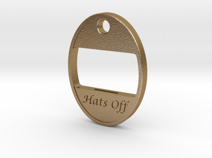 Hats Off Bottle Opener 3d printed