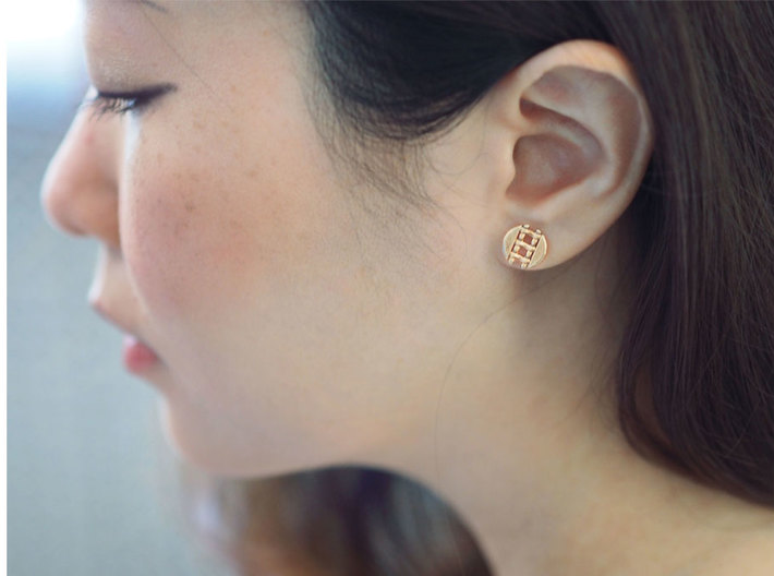 Pie Lattice Earring 4 3d printed
