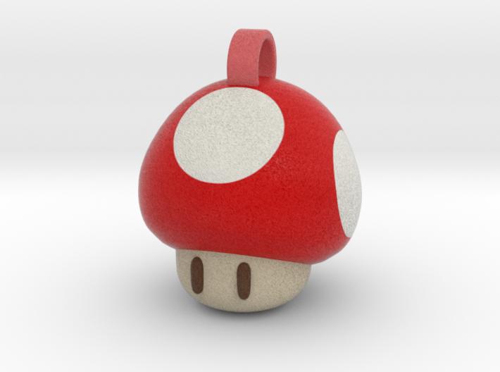 Super Mario Mushroom Keychain 3d printed