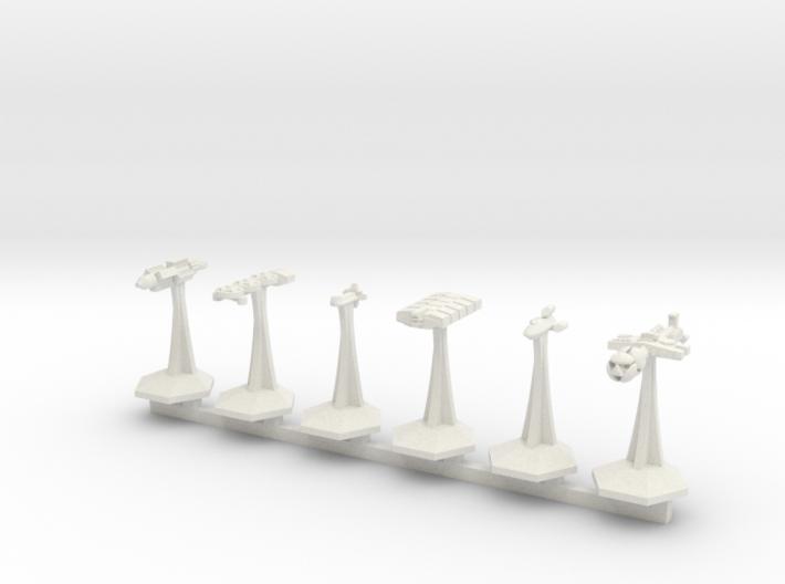 MicroFleet BSG Ragtag Fleet (6pcs) 3d printed