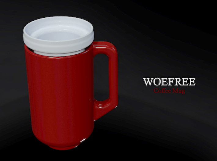 Woefree 2 piece Coffee Mug (1 of 2) 3d printed