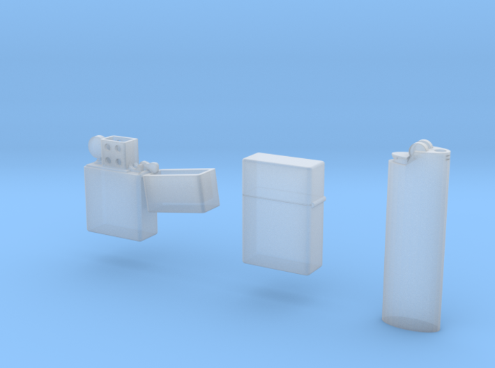 1:6 scale Lighter package 3d printed