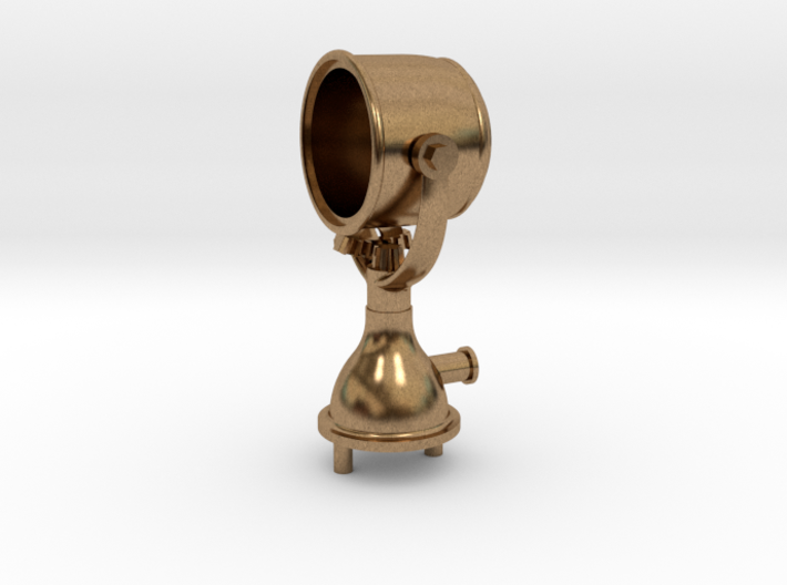 Mile Ray Search Light, Brass 3d printed