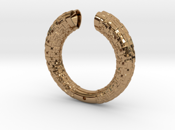 Two Section Textured Bracelet 3d printed