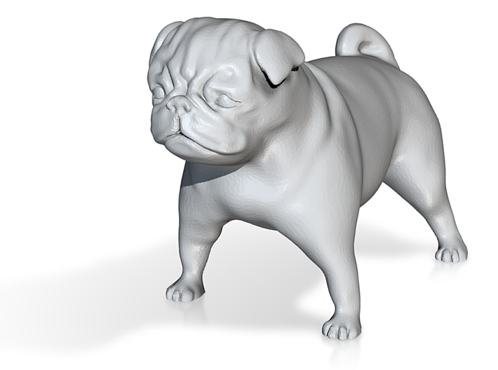 Mopsfigur / Pug 3d printed