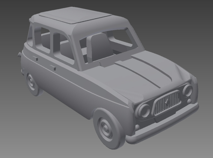 Renault 4 Hatchback 1.gen 1:160 scale (Lot of 6 ) 3d printed