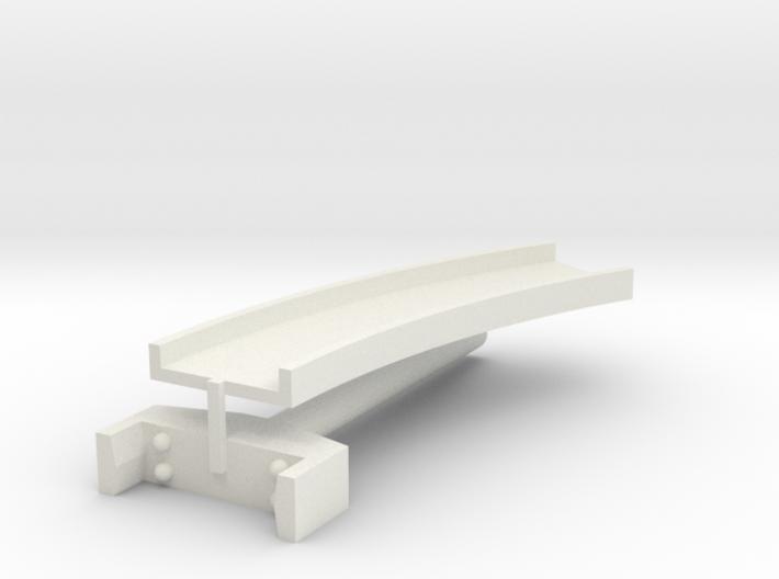 T-gauge curved bridge 120 mm 3d printed