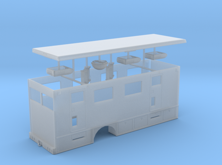 1/64th Hydraulic Fracturing Data Van body Single a 3d printed