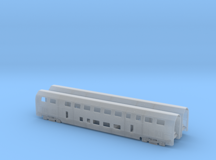 N07A - SBB Twindexx 2nd Class Trailer - N Scale 3d printed