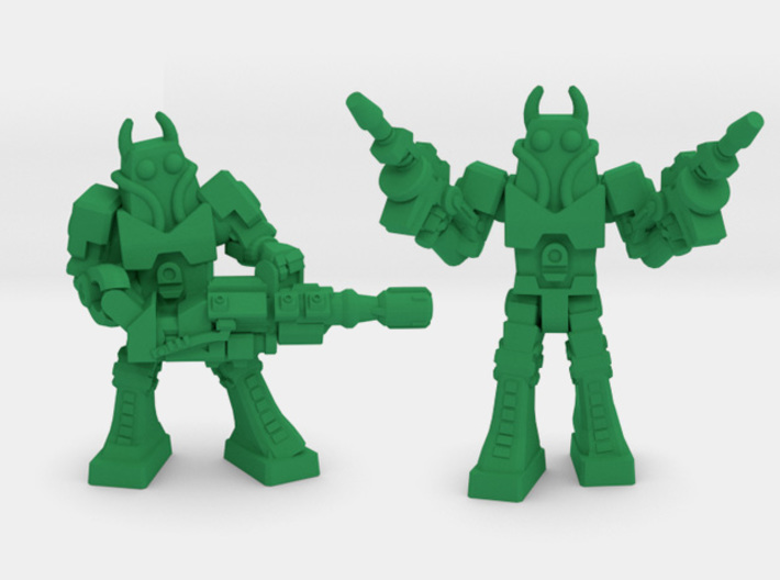 Waruder Battas Squad, set of 4 35mm Minis 3d printed Heavy Gunner, Suppressor
