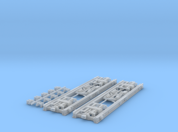 Neubau Rollwagen RF4 mit Druckluftbremse in Nm (1: 3d printed