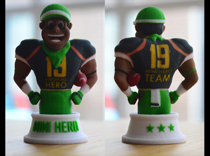 Mini football hero - version Black 3d printed real 3d printed version