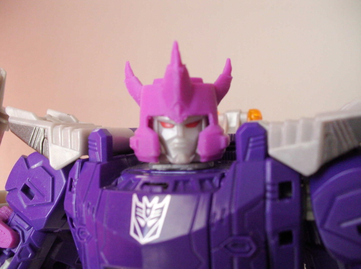 Galvatron TR Helm, IDW style  3d printed