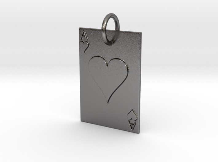 Ace of Hearts Keychain/Pendant 3d printed