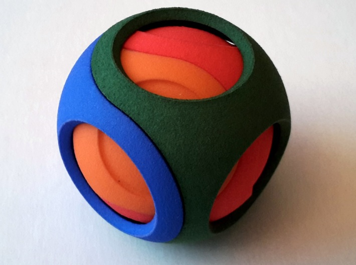 Smooth Dual Sphericon Puzzle: half inner shell 3d printed